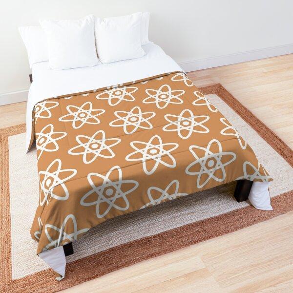 Physics Atom Pattern Orange Comforter
