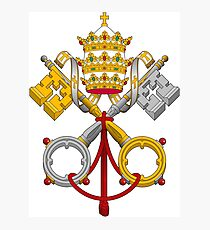 Papal Coat of Arms crossed keys Photographic Print