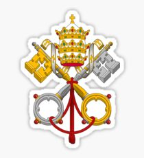 Papal Coat of Arms crossed keys Sticker