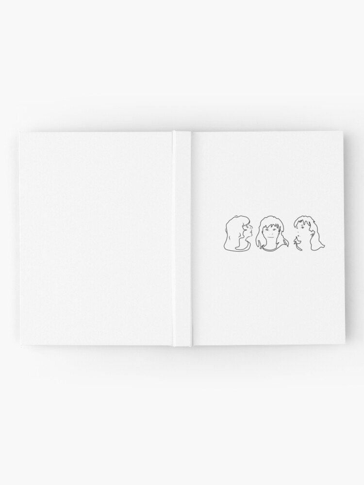 Alternate view of Triptych 3 faces outline (journal) Hardcover Journal