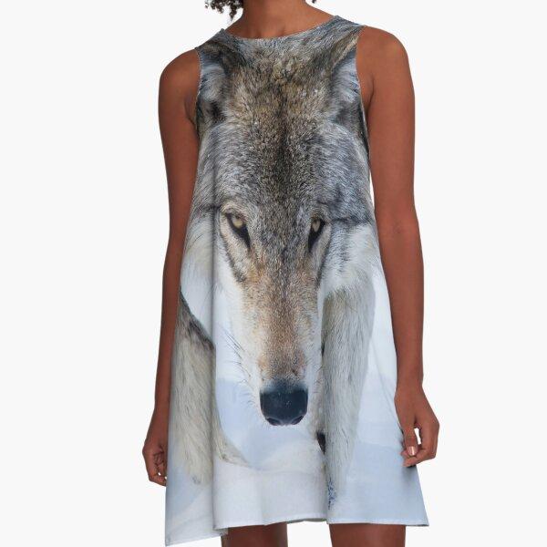 Gray Wolf A-Line Dress