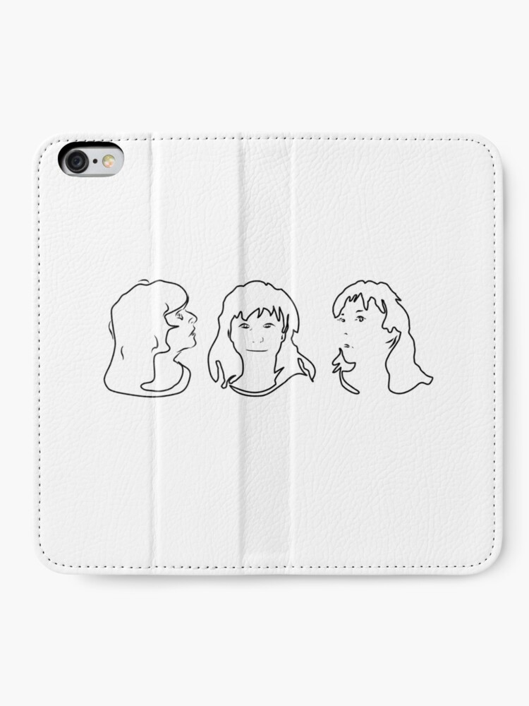 Alternate view of Triptych 3 faces outline (iPhone 6 Plus case) iPhone Wallet