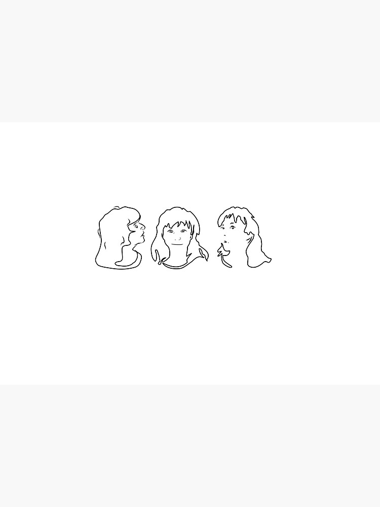 Triptych 3 faces outline (water bottle) by pollypaulusma