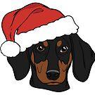 Black and Tan Dachshund - Merry Christmas   by rmcbuckeye