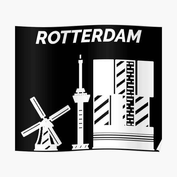Rotterdam City in the Netherlands Poster