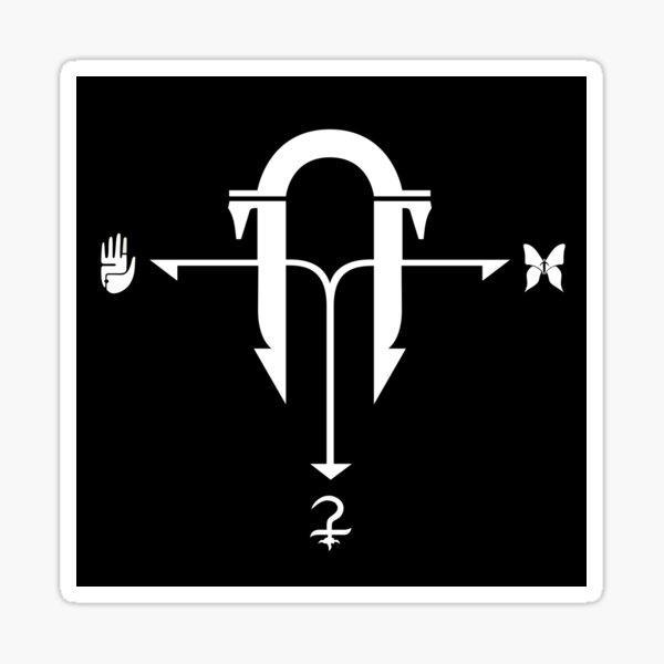 Logo de la Armería Negra Pegatina