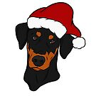 Black and Tan Doberman - Merry Christmas  by rmcbuckeye