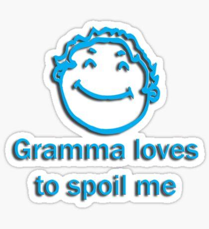 gramma spoil - blue Sticker
