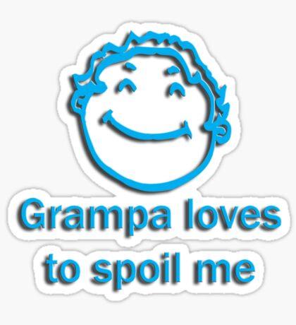 grampa spoil - blue Sticker