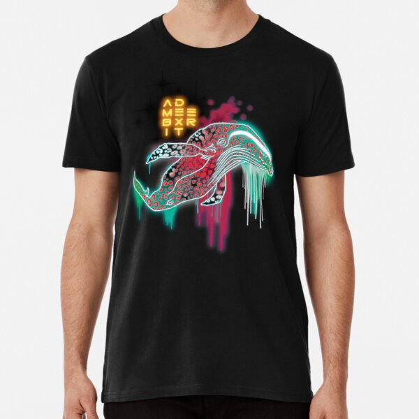 Neon Mammalian Luminous Cetacean Premium T-Shirt