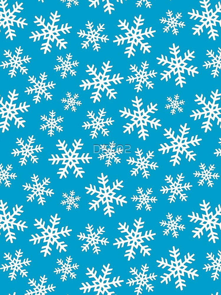 Let It Snow Christmas and Hanukkah Snowflake Pattern  by DEC02