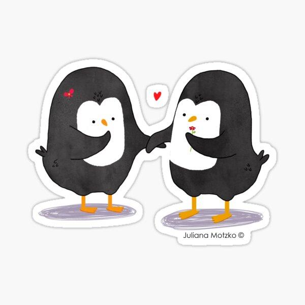 Lovely Penguin Couple Sticker