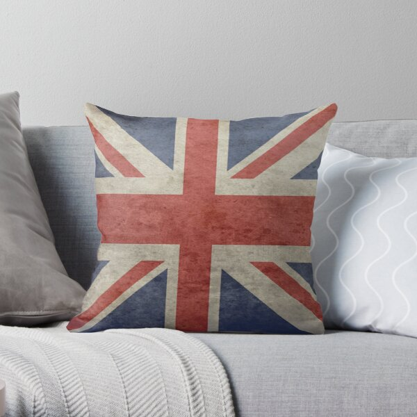 UK Flag Pillow - Union Jack Cushion Throw Pillow