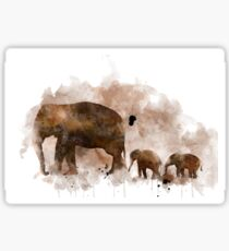 Elephant and Baby Sticker