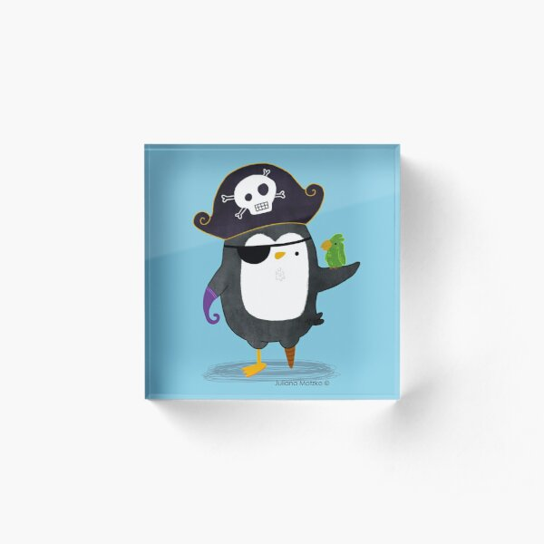 Pirate Penguin Acrylic Block