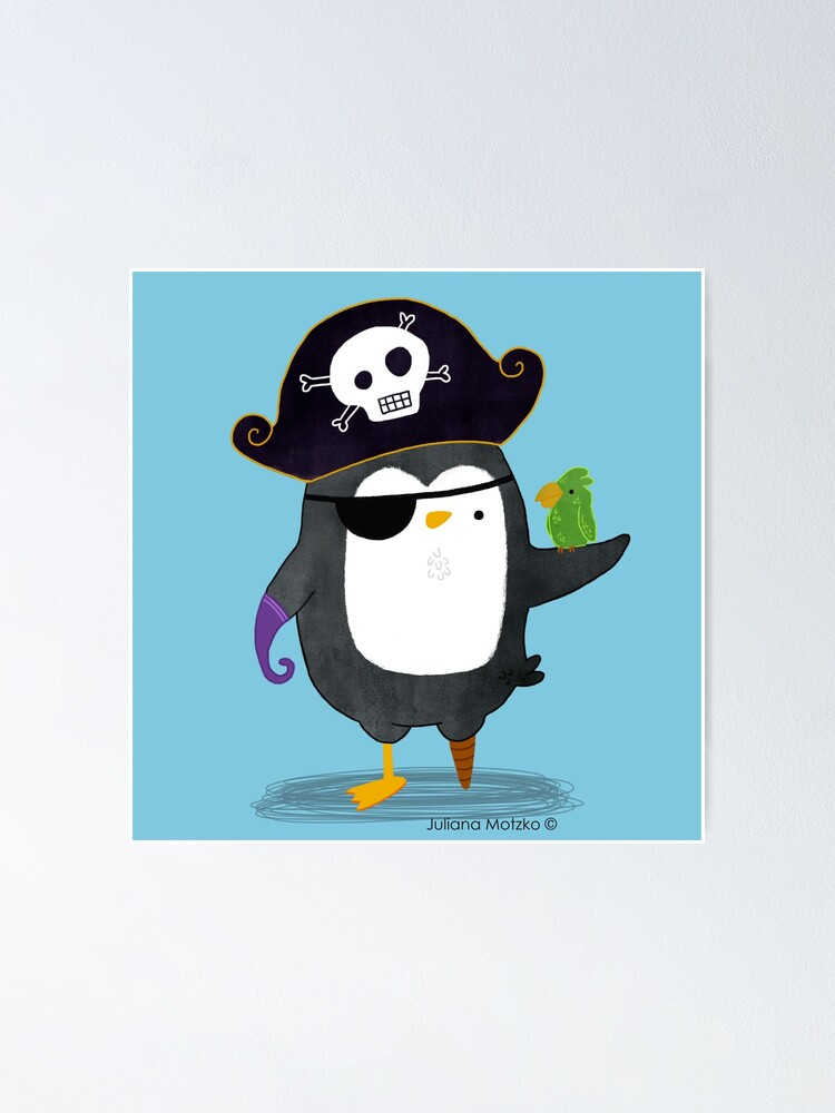 Alternate view of Pirate Penguin Poster
