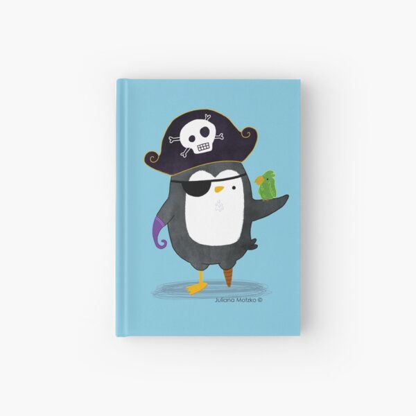 Pirate Penguin Hardcover Journal