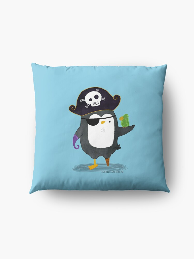 Alternate view of Pirate Penguin Floor Pillow