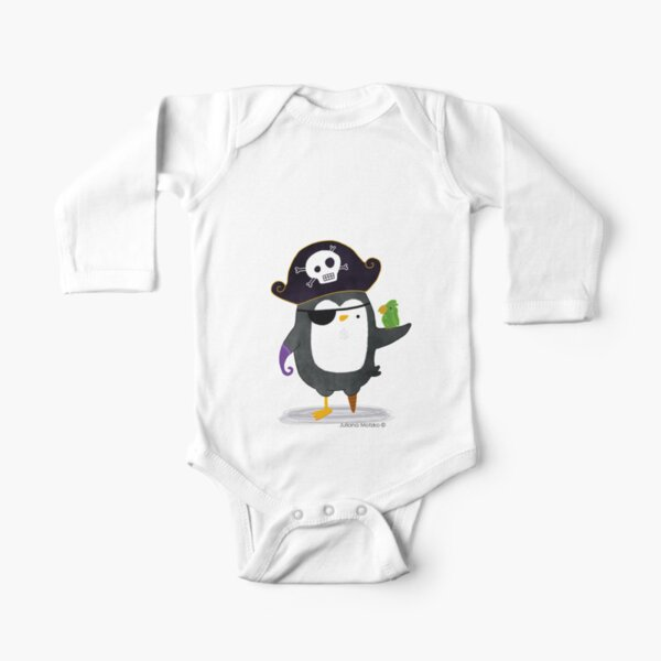 Pirate Penguin Long Sleeve Baby One-Piece