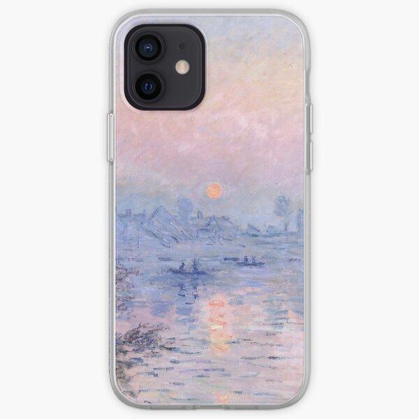 Soleil couchant Lavacourt, Claude Monet Coque souple iPhone