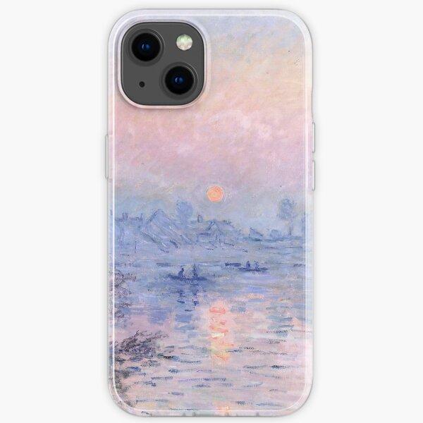 Setting sun Lavacourt, Claude Monet iPhone Soft Case