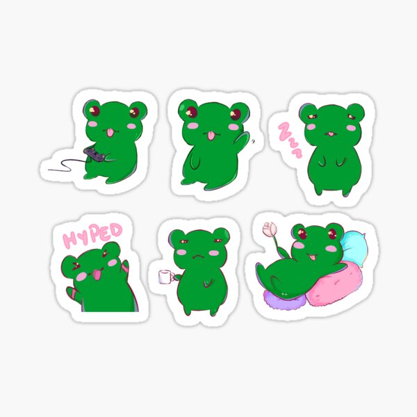 Pipi the the Frog Sticker