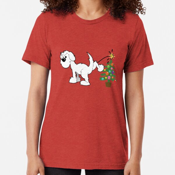 Merry Christmas love DOG Tri-blend T-Shirt