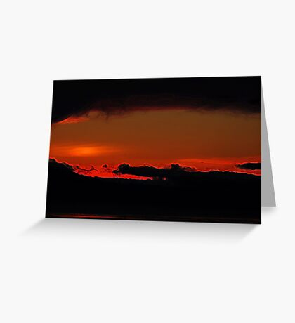 fiery hole torn in the sky Greeting Card