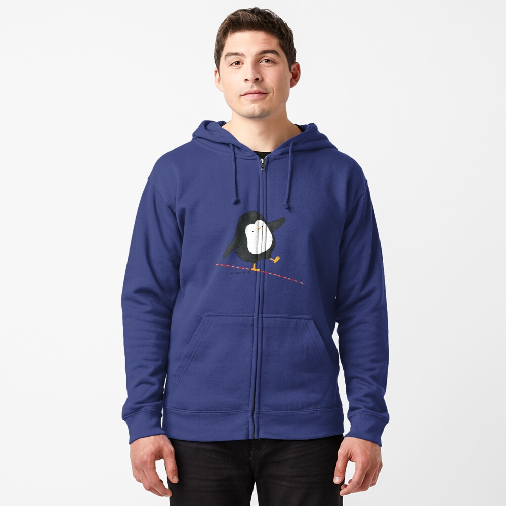 Equilibrist Penguin Zipped Hoodie
