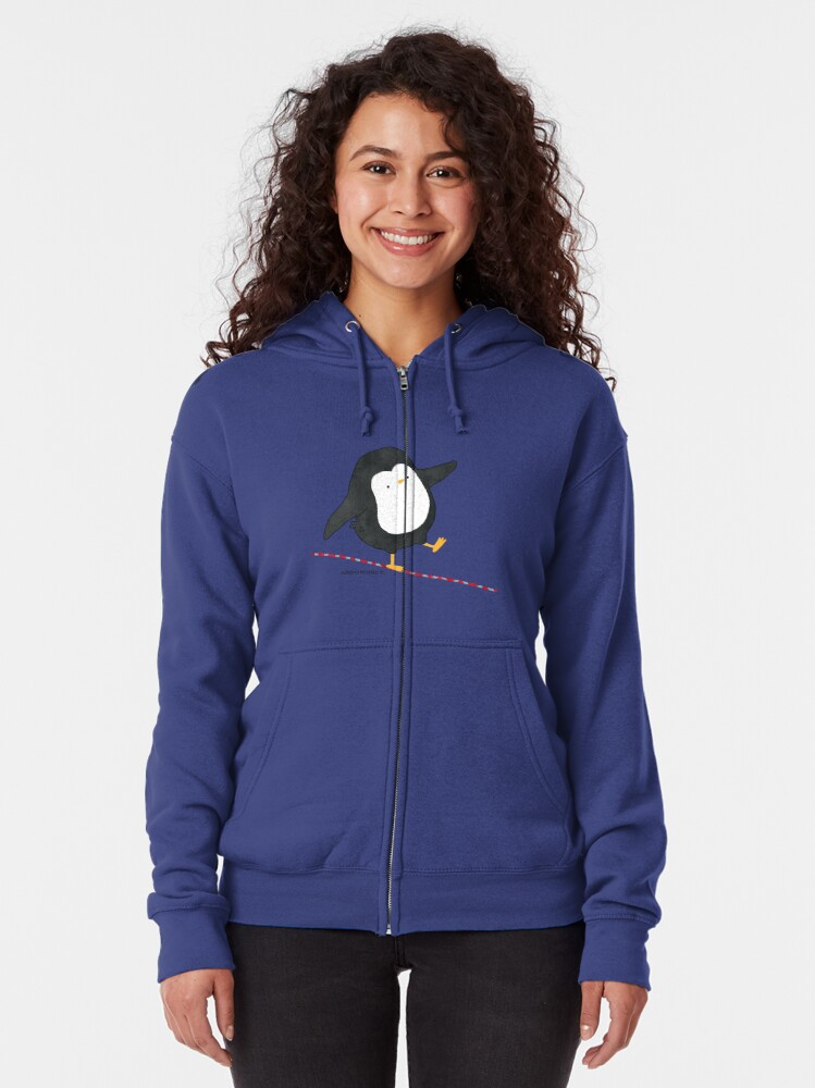 Alternate view of Equilibrist Penguin Zipped Hoodie