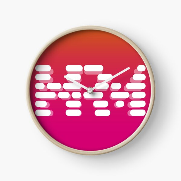 Human Readable Magazine Logo Clock