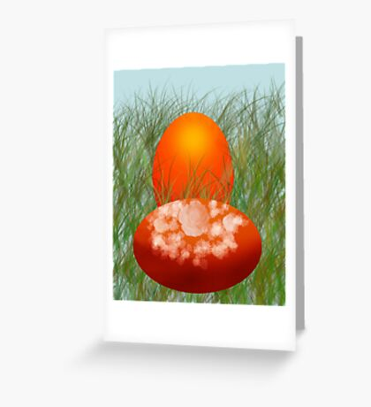 on EASTER Greeting Card