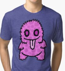 Ghouly Fuzz Pink Tri-blend T-Shirt