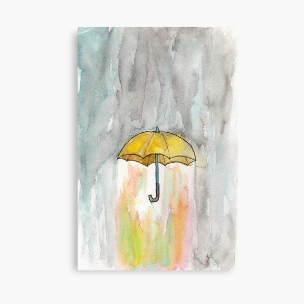 Rain changed by umbrella Canvas Print