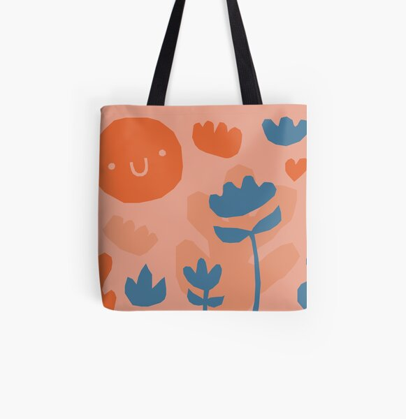 Garden pattern All Over Print Tote Bag
