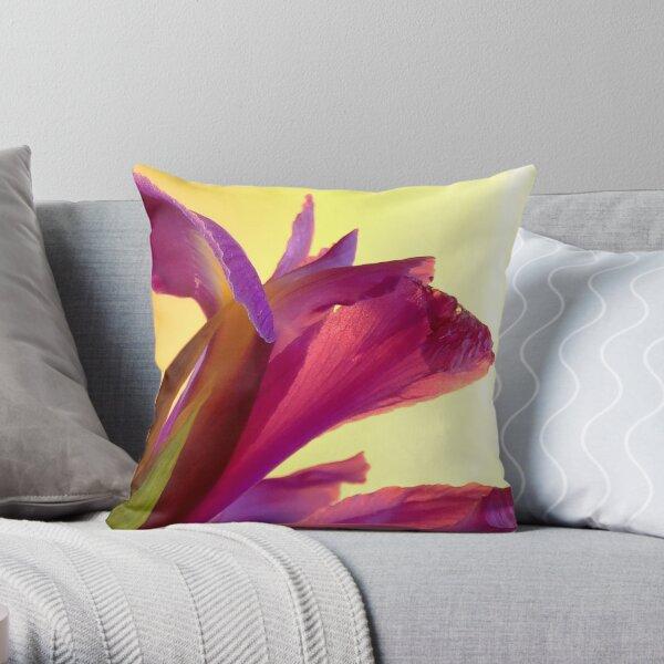 Delicate Iris Throw Pillow
