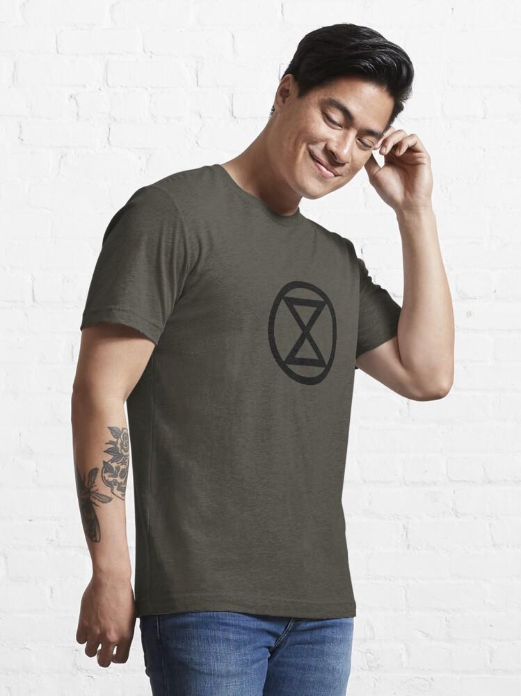 Alternate view of Extinction Rebellion Official Merchandise Essential T-Shirt