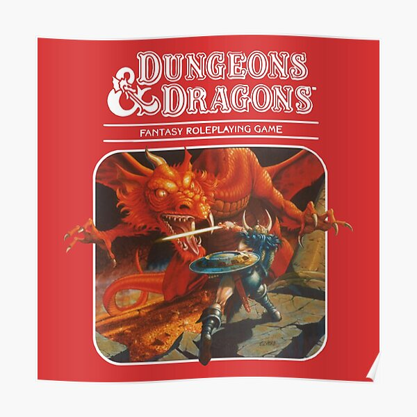 BEST SELLING Dungeons and Dragons Merchandise Poster