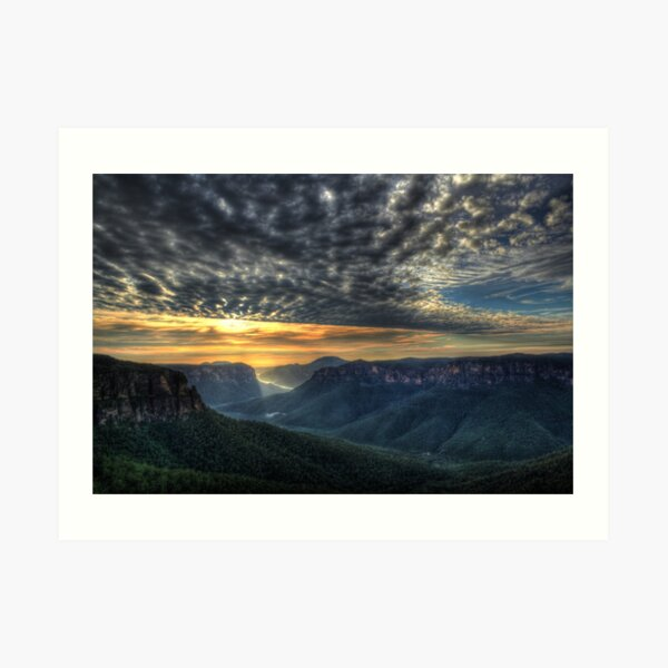 Govett's Leap Sunrise Art Print