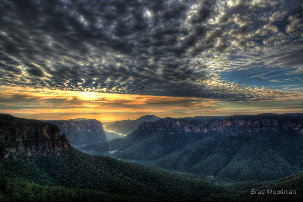 Govett's Leap Sunrise by Brad Woodman