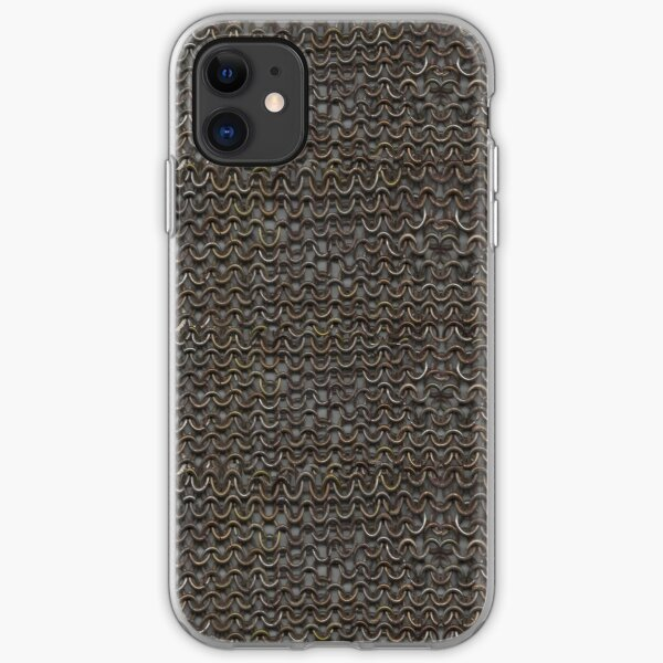 Battleworn Chainmail Armor Pattern iPhone Soft Case