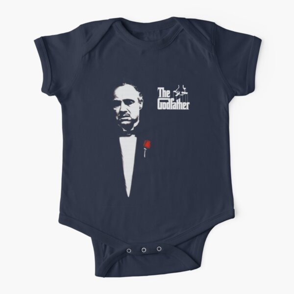 The Godfather Artwork, Posters, Prints, Tshirts, 1972 Movie For Men, Women, Kids Short Sleeve Baby One-Piece