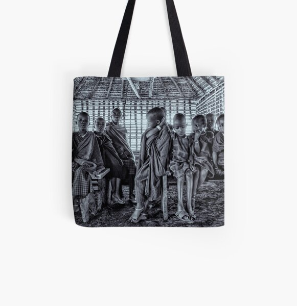 Portrait of Young Maasai Children 4244 All Over Print Tote Bag