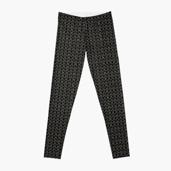 Black Knight Chainmail Medieval Fantasy Costume Armor Leggings
