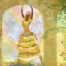 Cuban dancer in yellow banana dress by rebelot