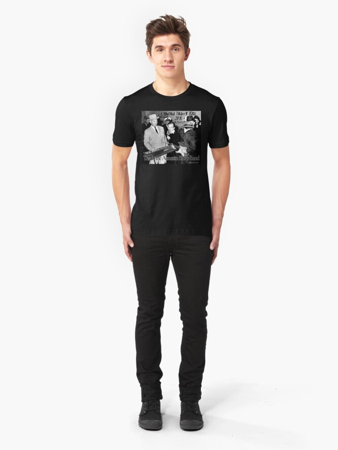 Alternate view of The Lone Assassin Blues Band  Slim Fit T-Shirt