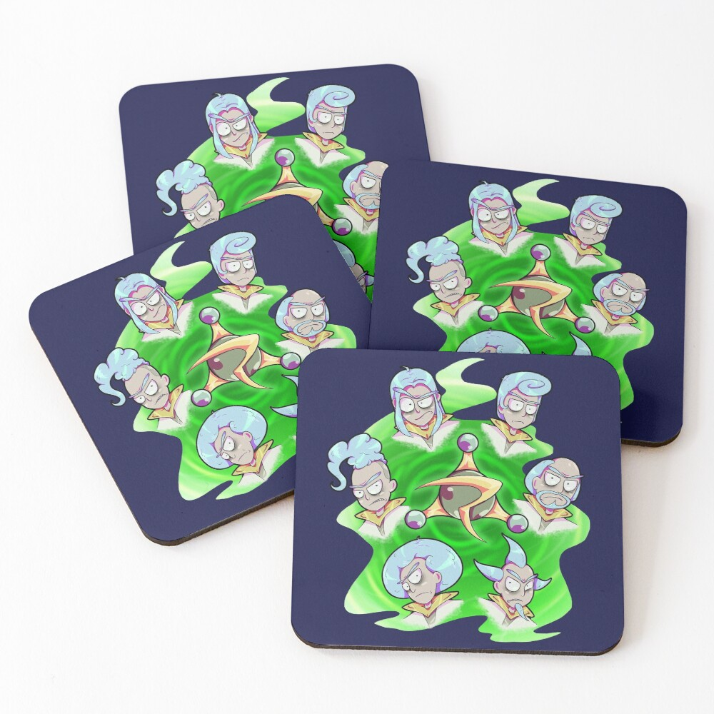 Rick and Morty - Council of Rick Coasters (Set of 4)