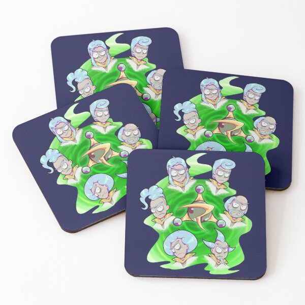 Rick and Morty - Council of Rick Coasters (Set of 4)