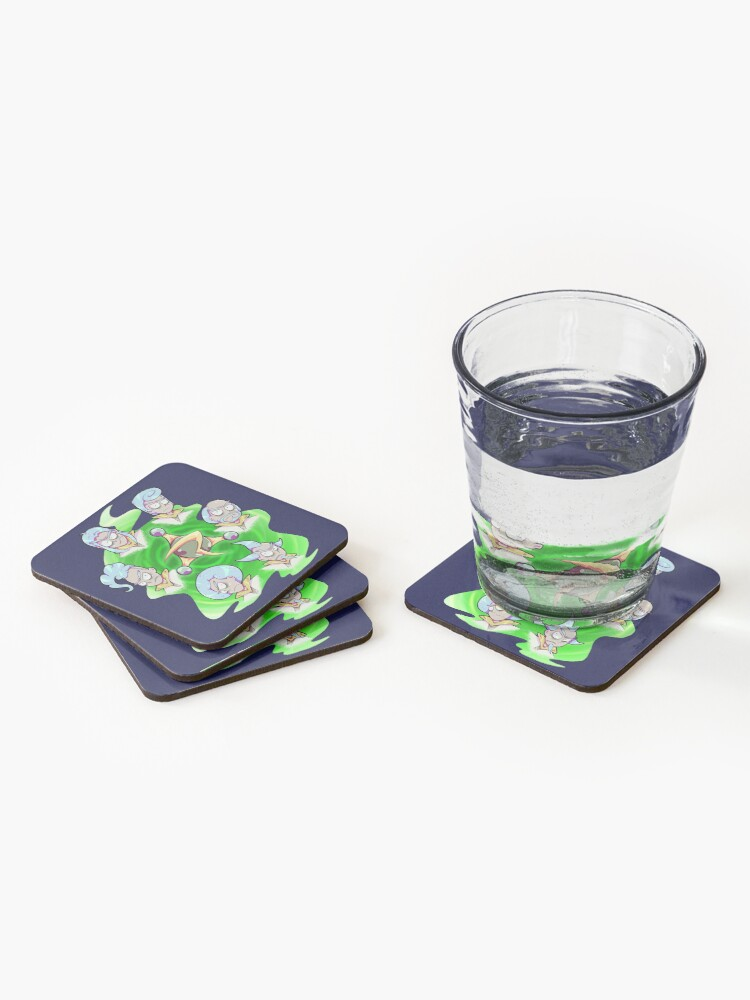 Alternate view of Rick and Morty - Council of Rick Coasters (Set of 4)