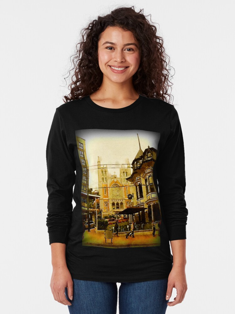 Alternate view of Street Scene, Wellington, New Zealand Long Sleeve T-Shirt